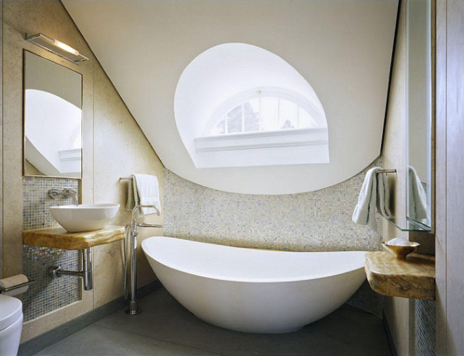 Modern Attic Bathroom with Roof light