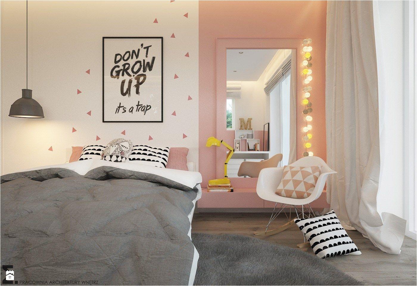 Pokoje dla nastolatk³w młodszych i najmłodszych Średni pok³j dziecka dla dziewczynki dla nastolatka styl skandynawski zdjęcie od ELEMENTY