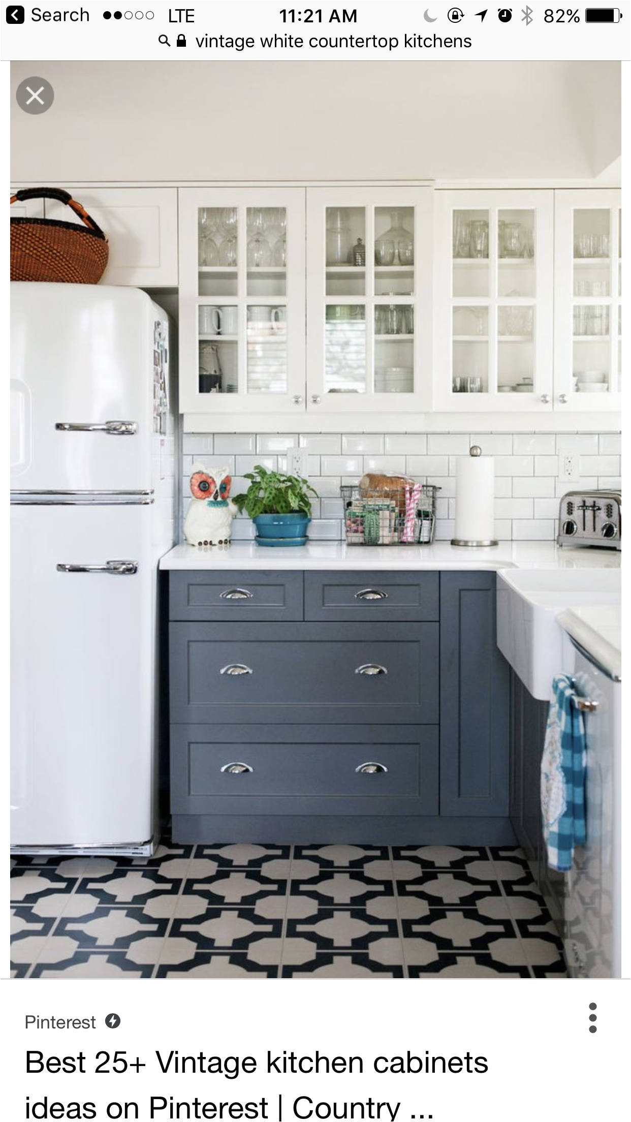here is a blue white kitchen that fits my vision with a simple interesting floor gorgeous home Postwar Construction Meets Prewar Charm in Victoria