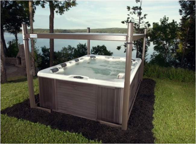 automated hot tub cover gazebo 10ft x 8ft covana evolution