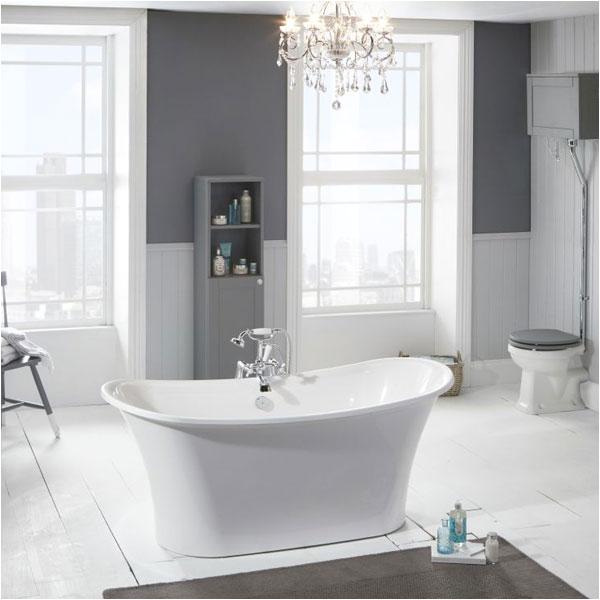 trojan spa freestanding bath 1600mmx690mm white