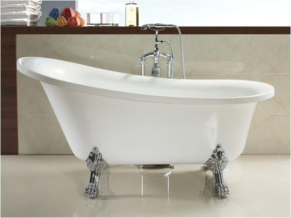1800mm acrylic slipper clawfoot bathtub