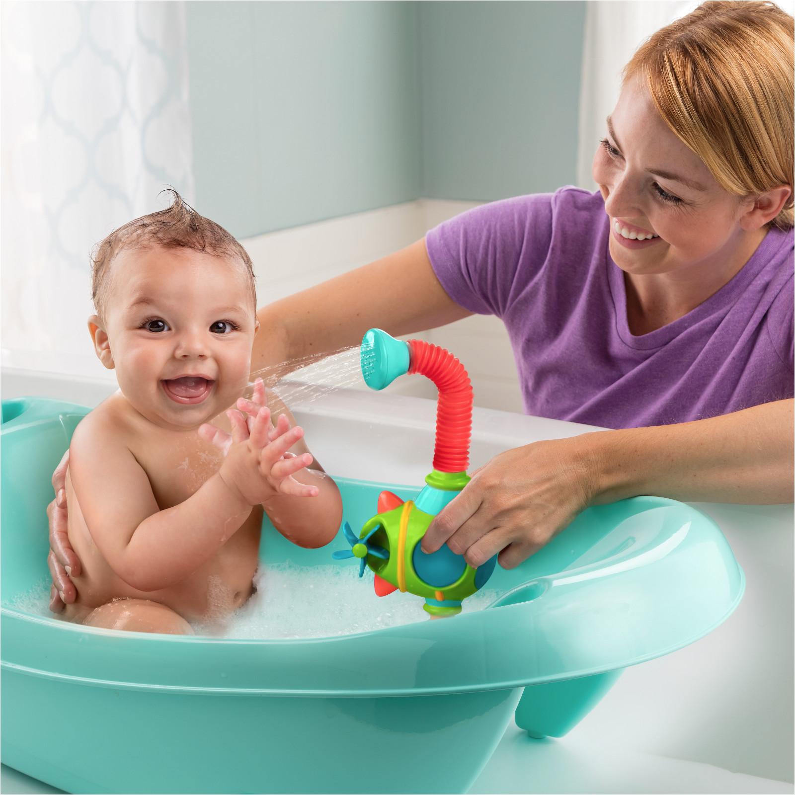 summer infant my fun tub baby bath with sprayer turquoise