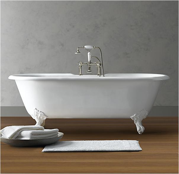 4 Foot Clawfoot Bathtub Vintage Imperial Clawfoot soaking Tub with White Feet