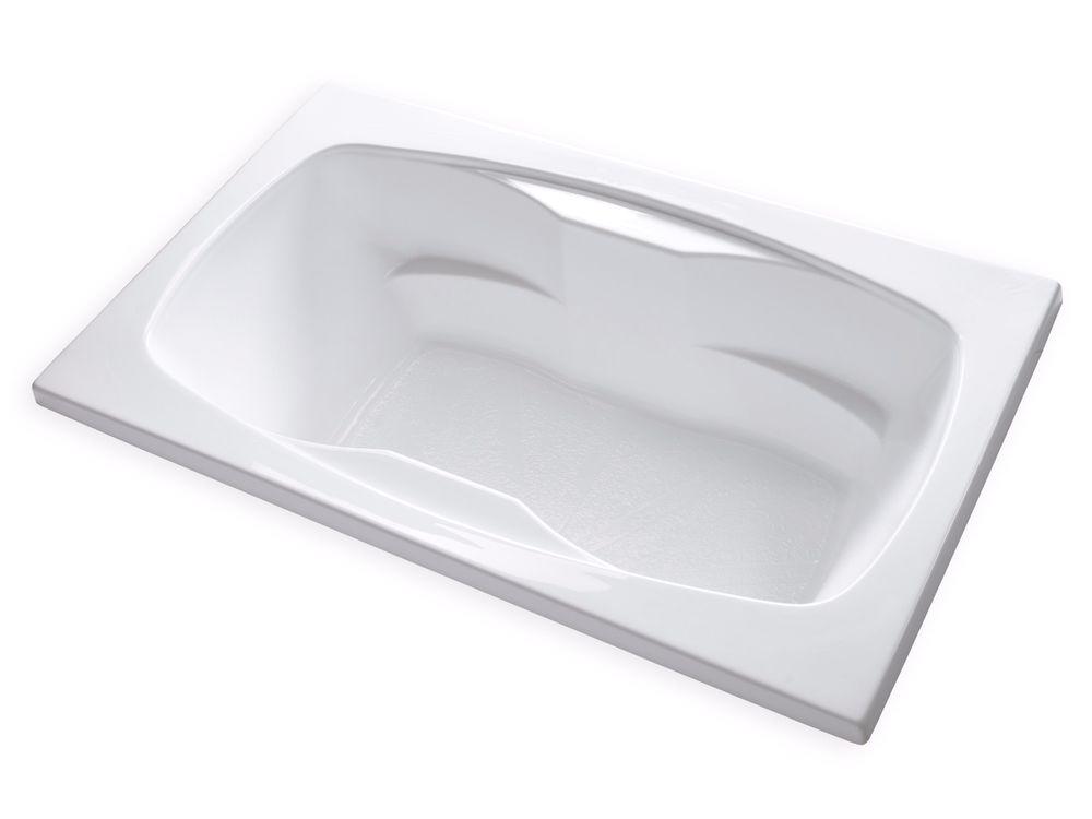 48 Bathtub Center Drain Carver Tubs Ar7242 72×42 Drop In Center Drain White