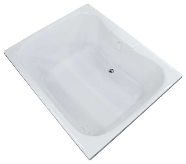 48 Bathtub Center Drain Veronesse 48 X 60 Rectangular soaker Drop In Bathtub Tub