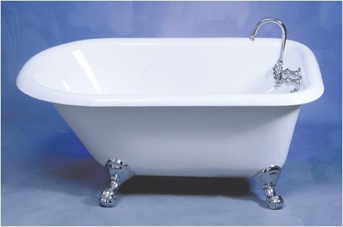 "48 Clawfoot Tub Harmony 48"" Cast Iron Clawfoot Bathtub Multiple Finishes"