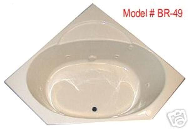 48 Inch Whirlpool Bathtub Whirlpool Tub Br 49 48 X 48 Corner Acrylic Tub 6 therapy