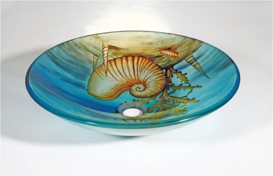 seashell round vessel sink UVLFZA142