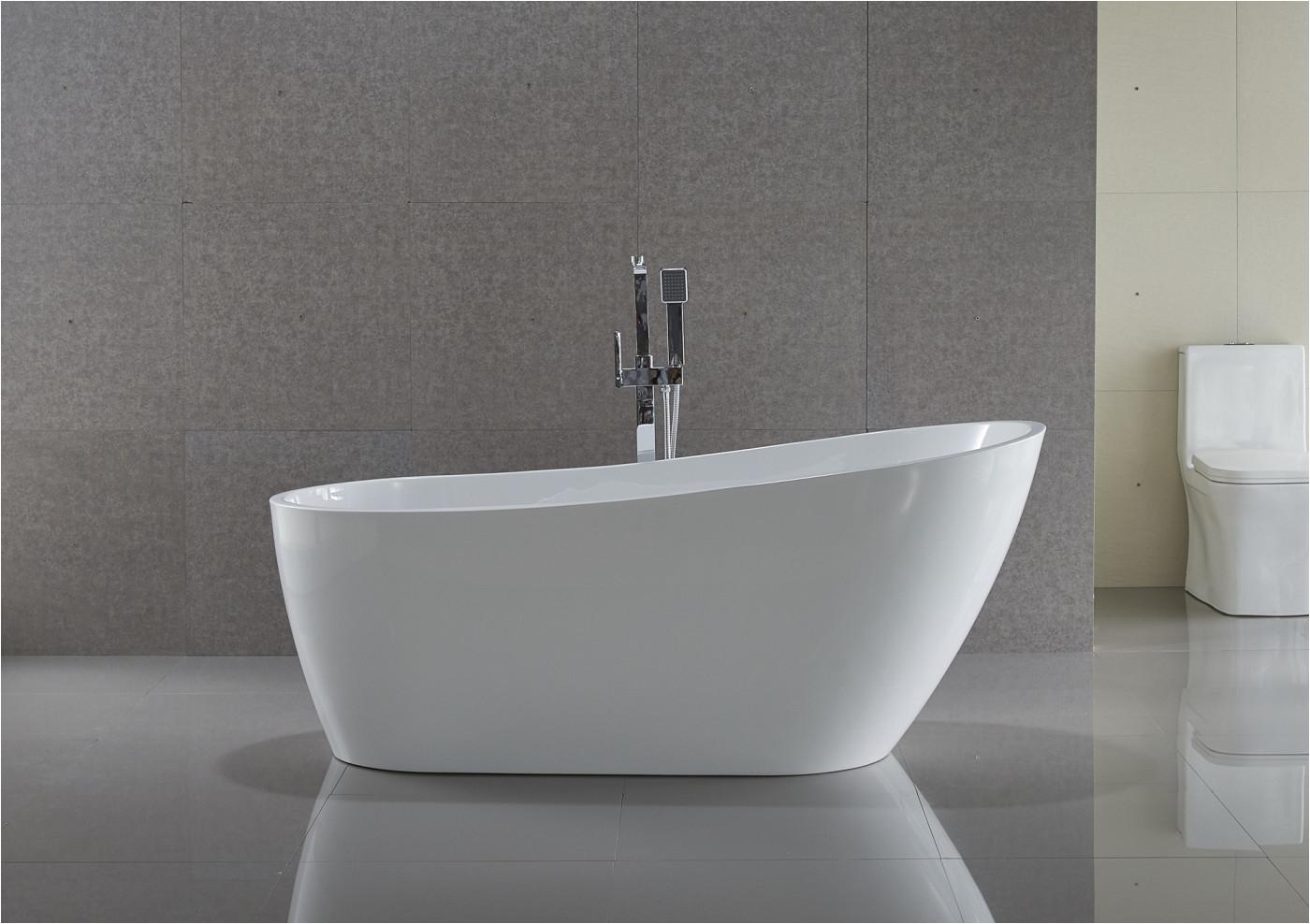 trend series 5 58 ft freestanding bathtub in white