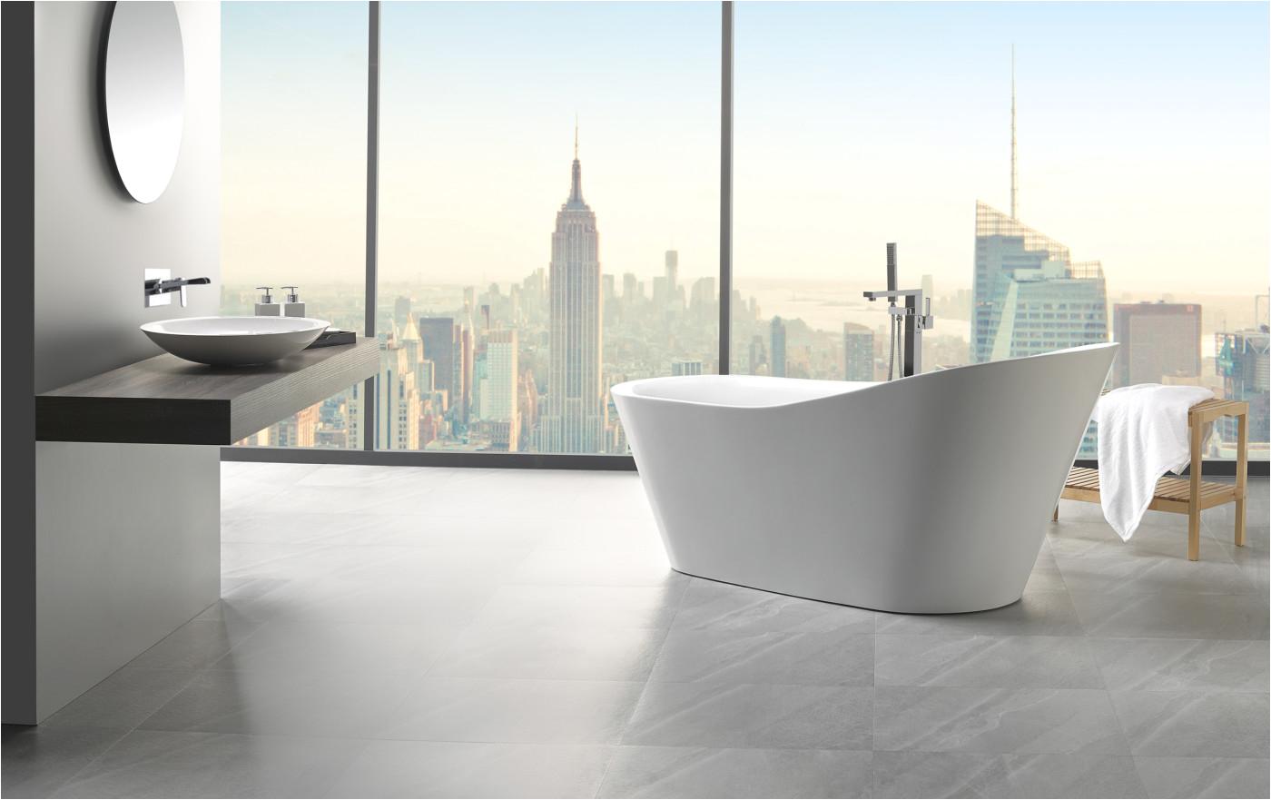5 Ft Freestanding Bathtub Arges 5 9 Ft Reversible Drain Freestanding Bathtub In