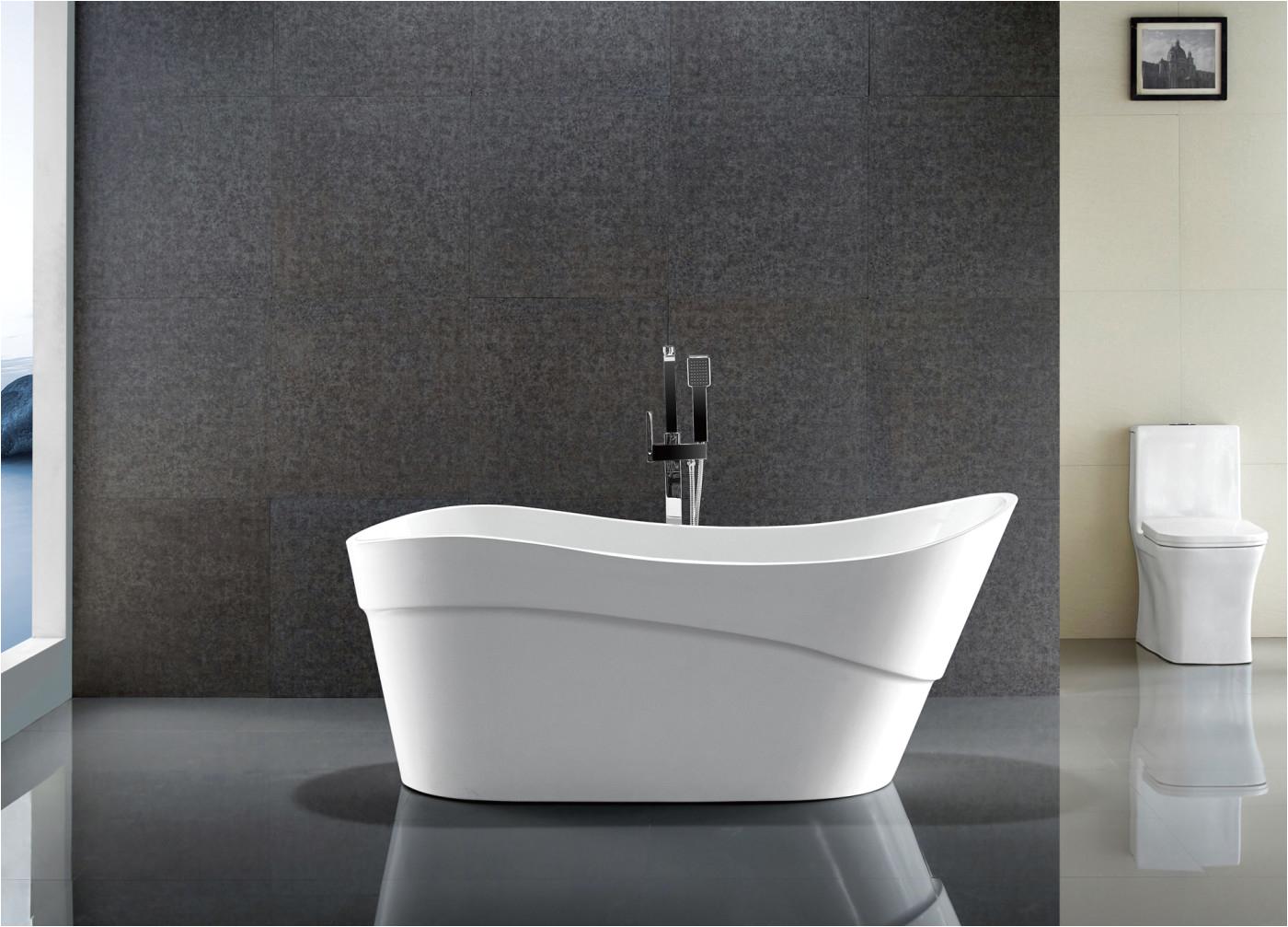 kahl series 5 58 ft freestanding bathtub in white