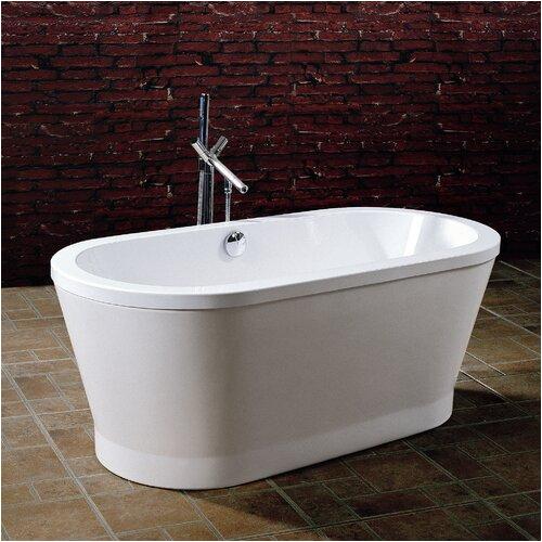 Aquatica PureScape 59 x 28 Freestanding Acrylic Bathtub PURESCAPE 302 XAI1168