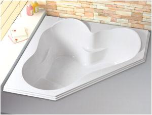 China 54 X 54 Corner Drop in Alcove Bath