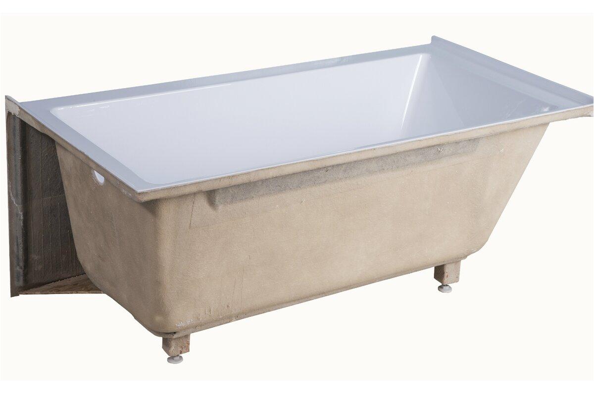 apron acrylic 54 x 30 alcove soaking bathtub finf1203
