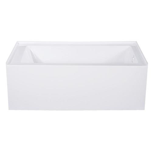 54 Inch Acrylic Alcove Bathtub Kingston Brass Alcove 54 In White Acrylic Rectangular