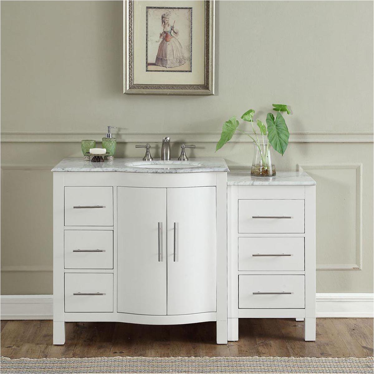 54 modern single bathroom vanity espresso with round sink