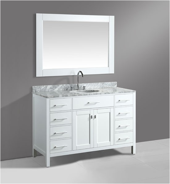 design element london dec076 54 w 54 inch white single modern bathroom vanity set