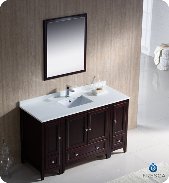 fresca bath fvn20 mh 54 inch mahogany integrated sink bathroom vanity SID=U