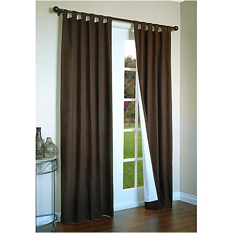 thermalogic weathermate 54 inch tab top window curtain panel pair chocolate