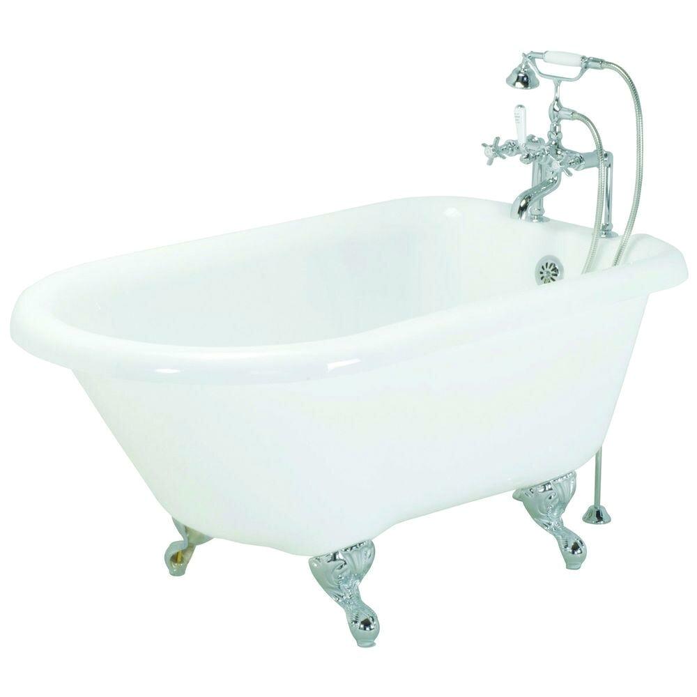 Acrylic Clawfoot Rolltop Tub in White ECGART54 ECS2247