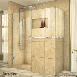 search=54 inch frameless bypass shower door
