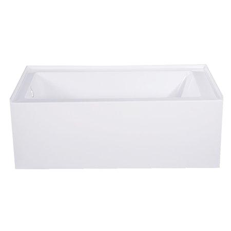 54 Inch Bathtub Left Drain Aqua Eden 54 Inch Acrylic Alcove Tub with Left Hand Drain