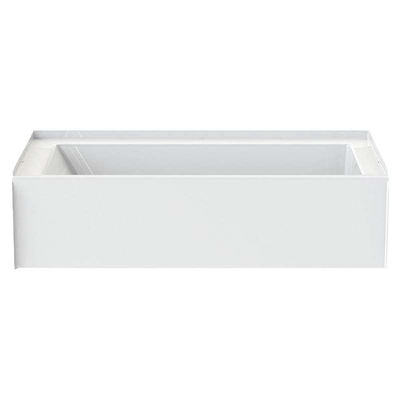 aquatic 6030ctminl wh 60in x 30in soaking bathtub with left hand drain