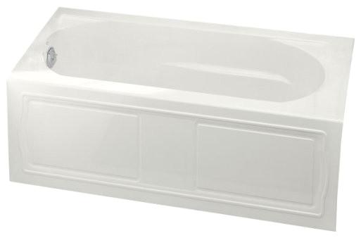 devonshire alcove bath tub integral apron left hand drain 60x32 white contemporary bathtubs