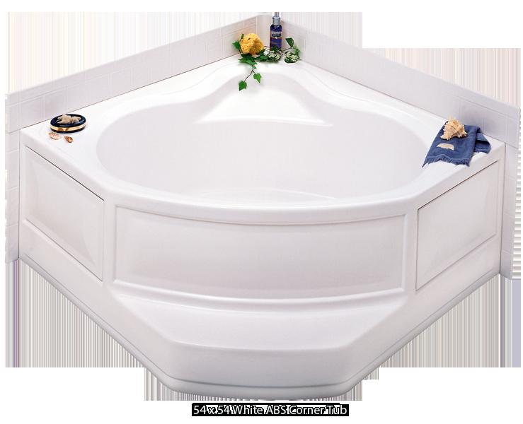 better bath white abs corner tub right hand drain 54 x 54