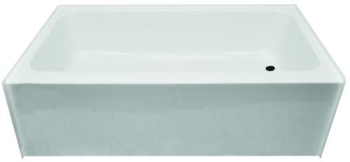 54 Inch Bathtub Surround Clarion 27 In X 54 In Right Hand White Fiberglass Tub