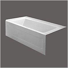 54 Inch by 30 Inch Bathtub Quad 54 X 30 Inch Skirted Bathtub Right Hand Drain
