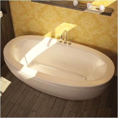 54 Inch Center Drain Bathtub Keystone by Maax Romance White Acrylic Freestanding