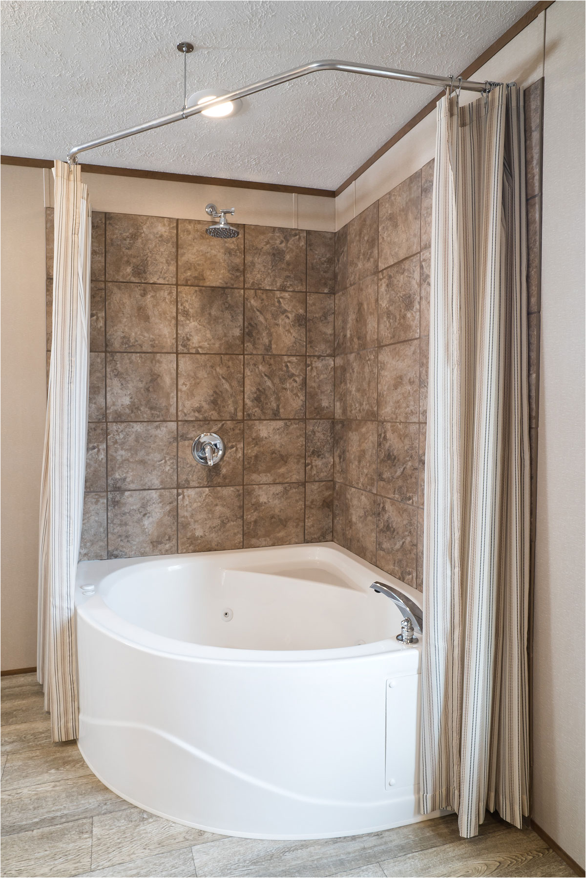 "54 Inch Corner Bathtub 2223 Bay Springs 54"" Corner Tub with Skirt Baymont Bathware"