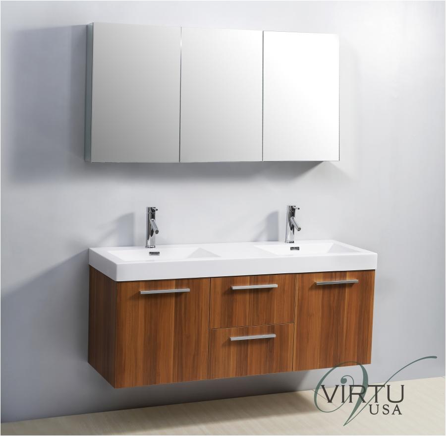54 Inch Floating Bathroom Vanity 54 Inch Small Wall Mounted Double Sink Bathroom Vanity