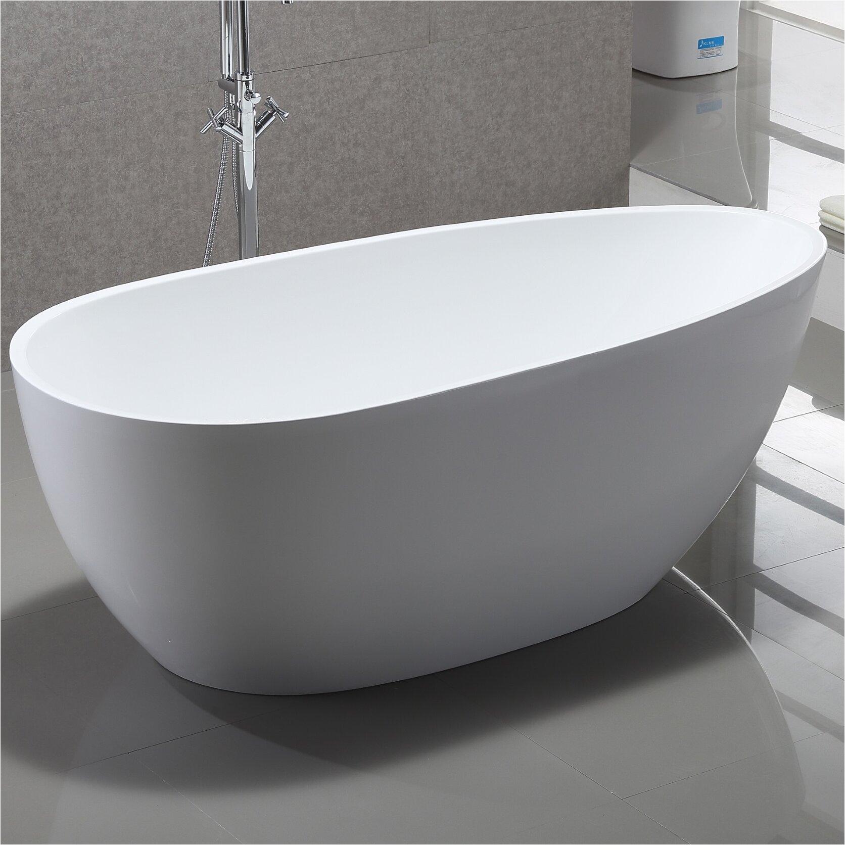 Vanity Art 59 x 29 5 Freestanding Soaking Bathtub VNAR1015