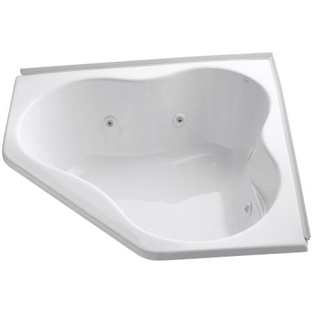 "54 Inch Jacuzzi Bathtub Kohler K 1154 F 0 White Proflex Collection 54"" Corner"