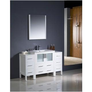 54 Inch Traditional Bathroom Vanity Fresca Oxford 54 Inch Antique White Traditional Bathroom