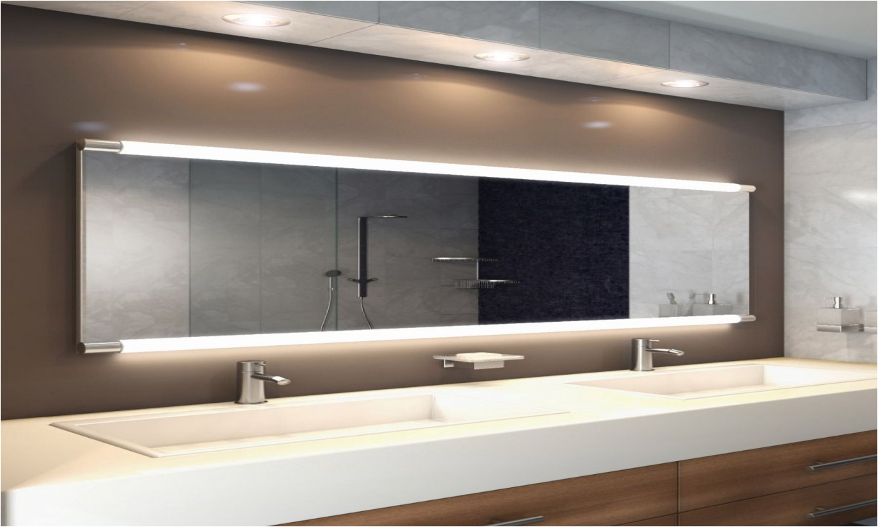 54 Inch Wide Bathroom Mirror Wide Bathroom Mirrors Saber Wide Led Light Bathroom