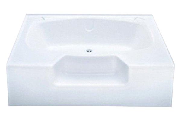 """54 X 40 Inch Bathtub Better Bath 40"""" X 54"""" Almond Tub Garden"""