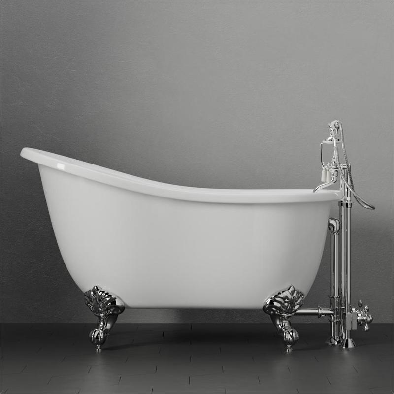 55 amherst acrylic slipper tub with feet