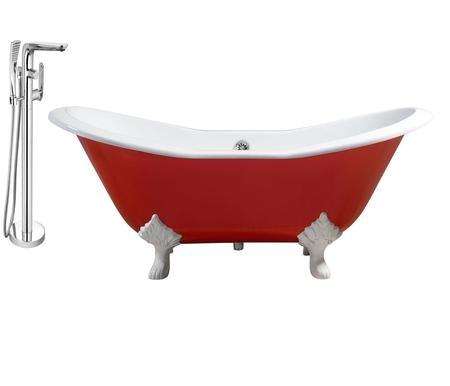 streamline rh5160wh ch 120 72 oval shaped soaking clawfoot tub with 55 5 ga