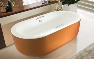 55 inch acrylic free standing soaking tub