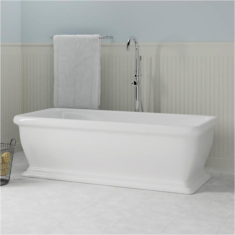 69 lafayette acrylic rectangular freestanding tub
