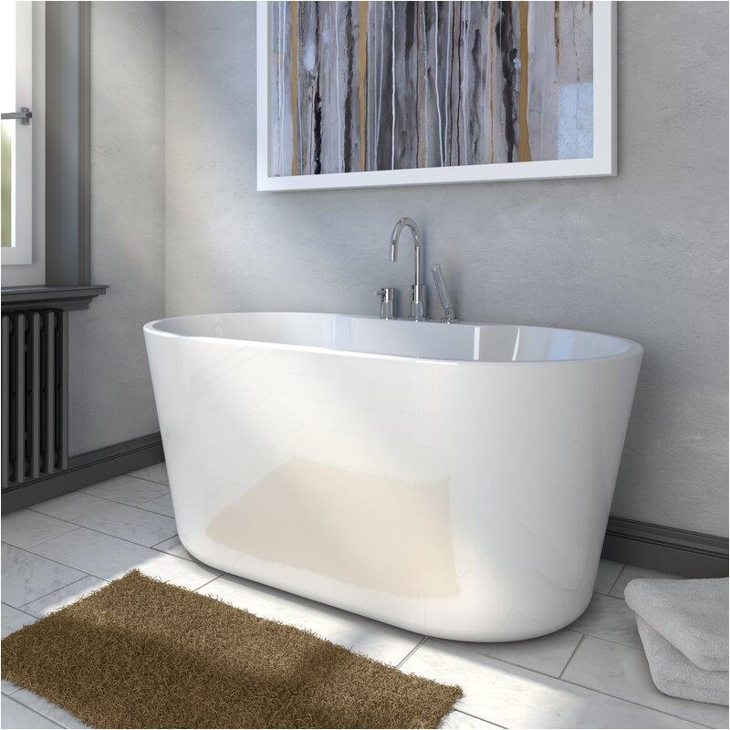"56 Bathtubs for Sale A&e Bath and Shower 56"" X 31"" Freestanding soaking Bathtub"