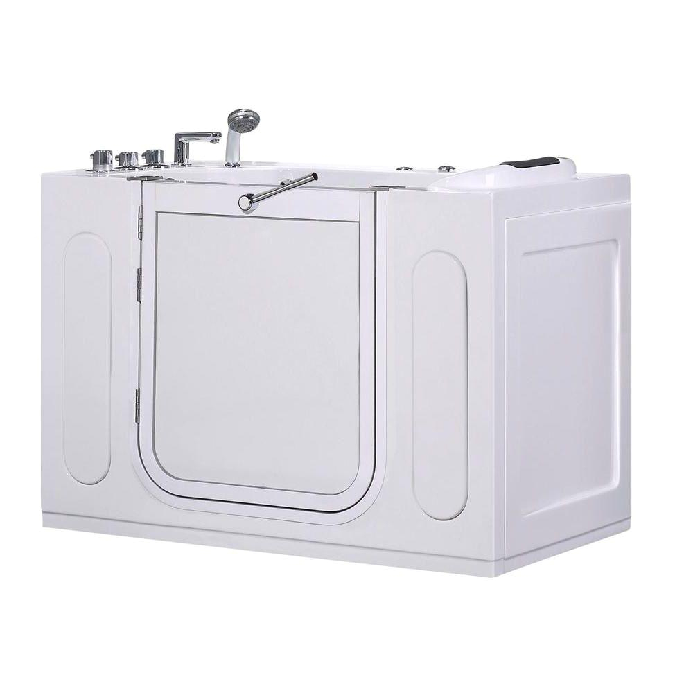 58 Inch Whirlpool Bathtub aston Wt622 Left Drain 4 58 Ft Walk In Whirlpool Bath Tub