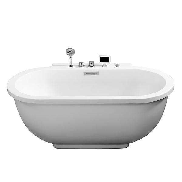 5' Freestanding Bathtub Ariel Freestanding Whirlpool Bathtub Platinum Am128jdclz