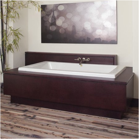 "6 Center Drain Bathtub Jacuzzi 66"" X 36"" Sia Drop In soaking Bathtub with Center"