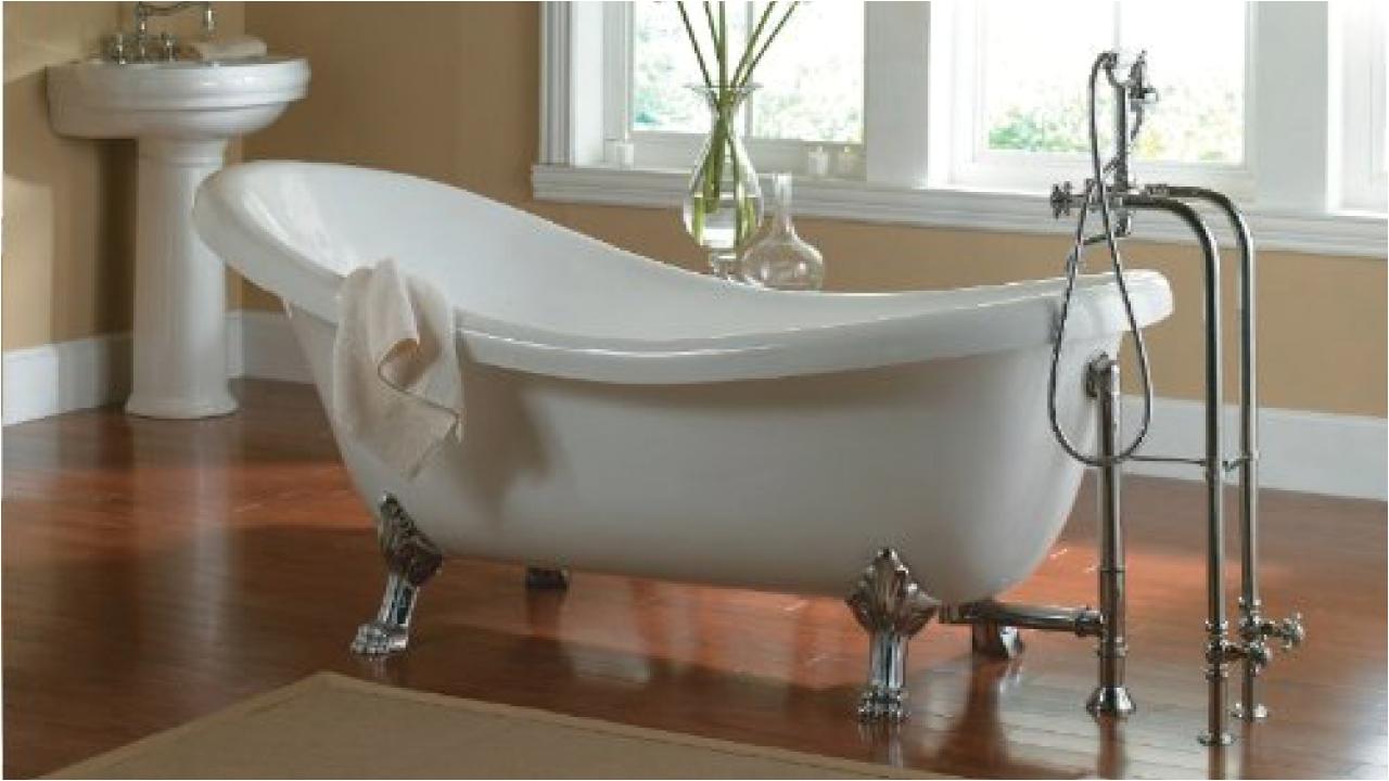 6 Foot Jacuzzi Bathtub Freestanding Tub with Jets Clawfoot Jacuzzi Tub Clawfoot