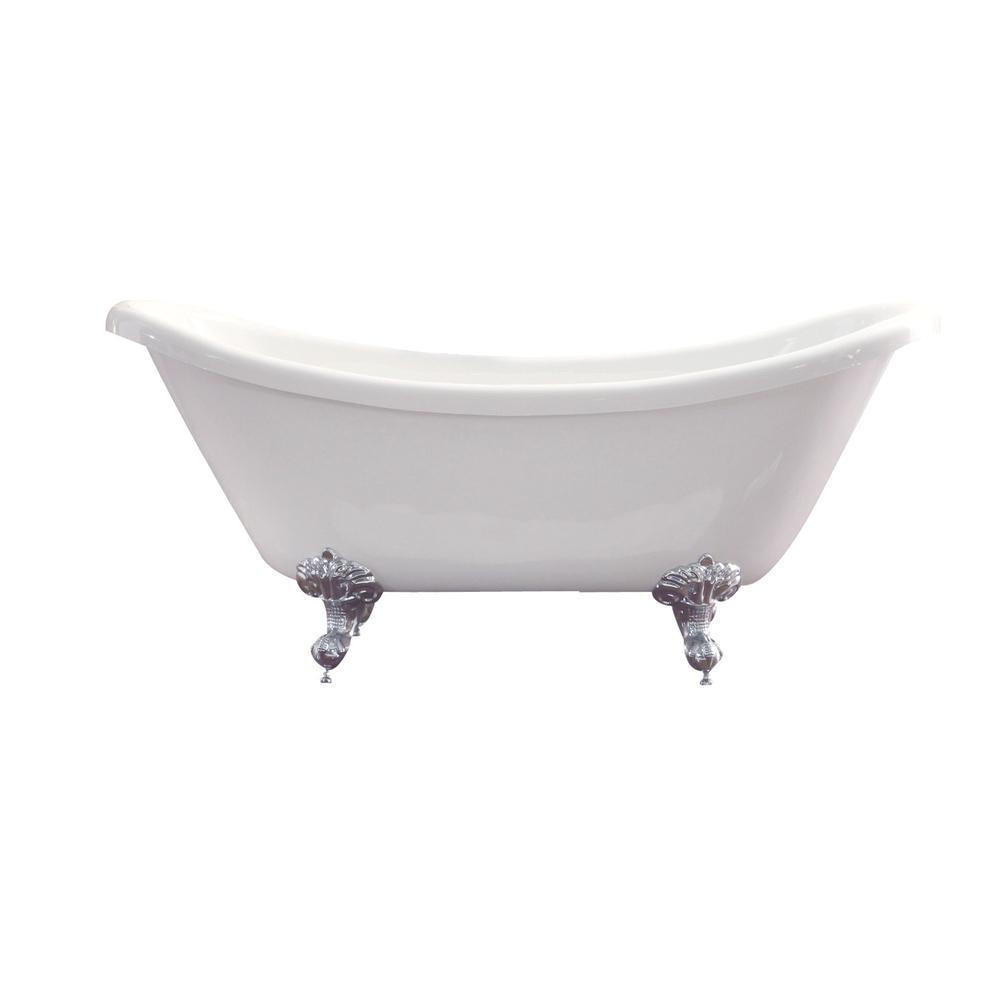 6 Ft Whirlpool Bathtub Azzuri Nova 5 6 Ft Acrylic Double Slipper Claw Foot Non